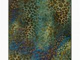 Area Rug Green Blue Pastrana Animal Print Blue Green area Rug