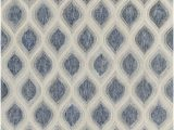 Area Rug Grey Blue Clara Collection Hand Tufted area Rug In Blue Grey & White