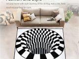 Area Rug On Carpet Slipping 3d Swirl Bottomless Hole area Rug Carpet Anti Slip Floor Mat