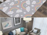 Area Rug On Carpet Slipping Us $23 39 Off Miracille Dream Clouds Floor Living Room Carpet Home Decoration Rugs for Child Non Slip area Rug Mat Stable Muti Place Carpet