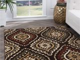Area Rug Set Of 3 3 Piece Set Brown Red and Green area Rug Laguna