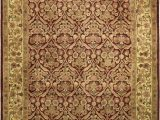 Area Rug with Gold Accents Handmade Rectangular Floral area Rug In Burgundy with Gold Accents