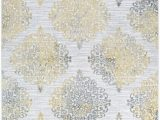 Area Rug with Gold Accents Jakes Power Loom Gold Silver Rug