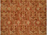 Area Rug with Gold Accents Rust Field with Brown and Gold Accents area Rug