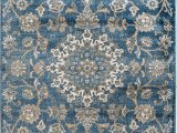 Area Rugs Clearance Near Me Madison Collection 405 Vintage Distressed oriental Persian Blue area Rug Clearance soft and Durable Pile Size Option 7 4 X 10 6