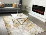 Area Rugs Gold and Gray 5×7 Contemporary area Rug White Gold Gray Ebay