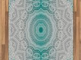 Area Rugs Grey and Teal Amazon Ambesonne Grey and Teal area Rug Mandala Ombre