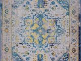 """Area Rugs Made In Turkey Ladole Rugs Modena Traditional Design Turkish Machine Made Beautiful Indoor area Rug Carpet In Blue Multicolor 5 3"""" X 7 6"""""""