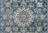 Area Rugs Made to Size Madison Collection 405 Vintage Distressed oriental Persian Blue area Rug Clearance soft and Durable Pile Size Option 7 4 X 10 6
