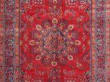 Area Rugs On Sale for Black Friday Black Friday Deal Vintage Red & Navy Blue Floral Mashad oriental Handmade area Rug Medallion Carpet 7×9 Walmart