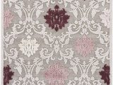 """Area Rugs Purple and Gray Jaipur Living Glamourous Damask Gray Silver area Rug 5 X 7 6"""""""