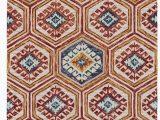 Area Rugs Salt Lake City Florence Geometric Handmade Tufted Wool orange Blue area Rug