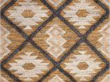 Area Rugs Tan and Gray southwest Bohemian Tan Ivory Gray Flatweave Wool area Rug