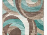 Area Rugs Teal and Brown Gaeta Abstract Teal Brown area Rug