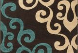Area Rugs Teal and Brown Rug Modern Damask Brown Teal Blue Cream 160x230cm