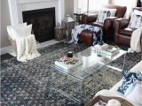 Area Rugs that Go with Brown Leather Furniture An Indigo Blue Color Scheme for Our Living Room