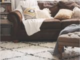 Area Rugs that Go with Brown Leather Furniture Boho Chic Living Room Makeover Finding the Perfect Rug