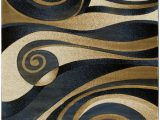 Area Rugs with Blue and Browns Abstract Blue Brown Gold area Rug