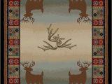 Area Rugs with Deer On them Haysi Deer Lodge Multi area Rug
