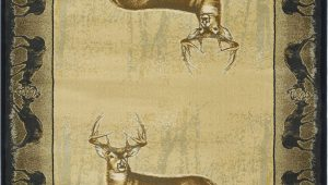Area Rugs with Deer On them Modern Loom Believe Deer 7410 534 Natural Polyester