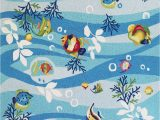 Area Rugs with Fish On them sonesta 2011 Blue Tropical Fish Rug by Kas