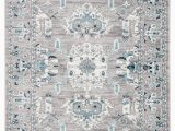 Area Rugs with Grey and Turquoise Lyme Medallion Light Gray & Turquoise area Rug – Burke Decor