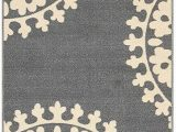 Area Rugs with Non Skid Backing Qute Home European Medallion Non Slip Rubber Backed area Rugs & Runner Rug Grey Ivory 2 Ft X 6 Ft Runner Rug