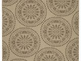 Area Rugs with soft Backing Genoa Damask Medallions Beige Indoor Outdoor area Rug