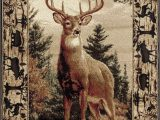 Area Rugs with Wildlife theme Wildlife Border Whitetail Deer Buck Cabin Lodge area Rug 3
