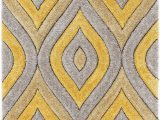 """Area Rugs with Yellow Accents Well Woven Moira Yellow Geometric Trellis Thick soft Plush 3d Textured Shag area Rug 5×7 5 3"""" X 7 3"""""""