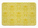 Art Deco Bath Rug Art Deco Goldenrod Memory Foam Bath Mat Memory Foam Bath