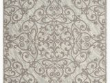 Ashley Home Store area Rugs Home Accents Damask 8 X 10 Rug Gray Ivory