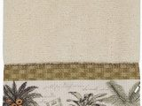 Avanti Banana Palm Bath Rug Avanti Linens Colony Palm Fingertip towel Ivory