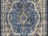 Baby Blue oriental Rug Traditional oriental Persian Rug Light Blue Brown & Beige Design 520 4 Feet X 5 Feet 9 Inch