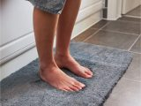 Bath Mats that Look Like Rugs Luxury Grey Bath Mat Microfiber Non Slip Bath Rug with Super soft Absorbent Dry Fast Design for Bath and Shower