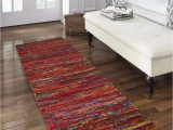 Bath Rug Runner 24 X 72 Cotton Multi Chindi Bed Runner Rugs 24×72 Inch Multi Color Cotton area Rugs Runner Bed Room Rugs Runnner Machine Washable Rugs Runner