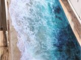 Bath Rugs that Absorb Water Sea Beach Print Flannel Skidproof Water Absorb Carpet