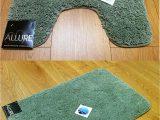 Bath Rugs without Rubber Backing 2 Piece Set Plain Supersoft Bathroom Fern Green Bath Mat