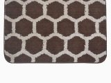 Bath Rugs without Rubber Backing Bianca Brown & Beige Anti Skid & Hd Rubber Backing Bath Rug