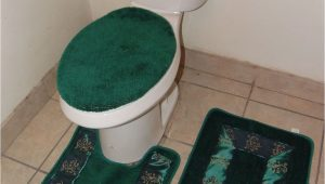 Bathroom Rug and toilet Sets Bathmats Rugs and toilet Covers 3pc 5 Hunter Green