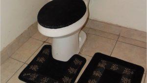 Bathroom Rug Around toilet 3pc Bathroom Set Rug Contour Mat toilet Lid Cover solid