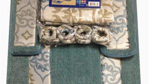 Bathroom Rug Sets Clearance Lid toilet Cover Shower Curtain Set Of 4pcs Rug area Carpet
