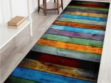 Bathroom Rugs Large areas Coral Velvet Colorful Stripe area Rug Colormix W24