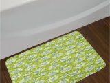 Bathroom Rugs Lime Green Details About East Urban Home Lime Green Blue Cream Hummingbirds Bath Rug