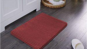 Bathroom Rugs that Dry Quick Mainstays Quick Dry Memory Foam Bath Rug Red Sedona 20
