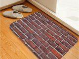 Bathroom Rugs Wall to Wall Brick Wall Pattern soft Anti Skid area Rug