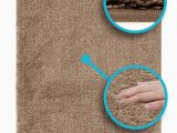 Bathroom Rugs with Non Skid Backing Luxe Rug Luxuriously Plush Microfiber Bathroom Rugs Non Slip Backing 19 5 X 31 5 In