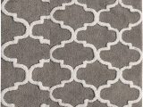 Bathroom Rugs with Non Skid Backing Saffron Fabs 2 Piece Bath Rug Set soft Cotton Size 24×17 Inch and 34×21 Inch Latex Spray Non Skid Backing Grey White Geometric Pattern 190