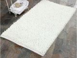 "Bathroom Rugs with Non Skid Backing Saffron Fabs Bubble 36"" X 24"" Non Skid Cotton and Microfiber"
