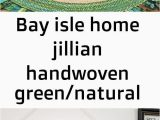 Bay isle Home area Rugs Bay isle Home Jillian Handwoven Green Natural area Rug